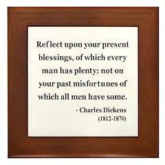 Charles Dickens 6 Framed Tile