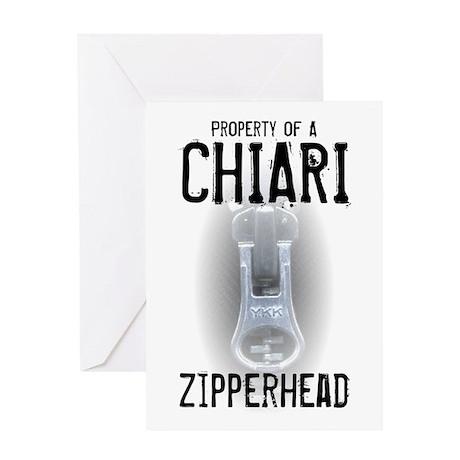 Property of A Chiari Zipperhead Greeting Card