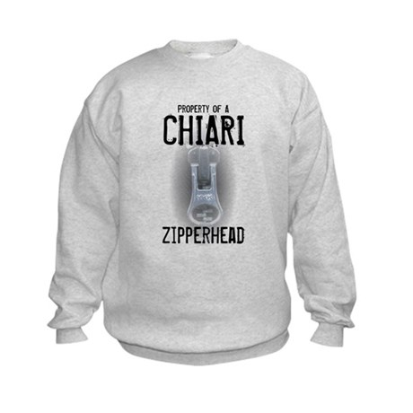 Property of A Chiari Zipperhead Kids Sweatshirt