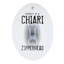 Property of A Chiari Zipperhead Oval Ornament