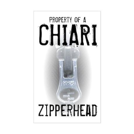 Property of A Chiari Zipperhead Sticker (Rectangle
