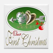 First Christmas 2005 Tile Coaster