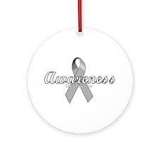 Brain Cancer Ornament (Round)