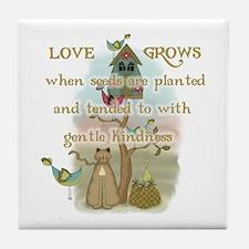 Love Grows Tile Coaster