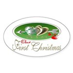 First Christmas 2005 Oval Sticker