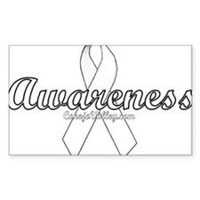 Lung Cancer Rectangle Decal