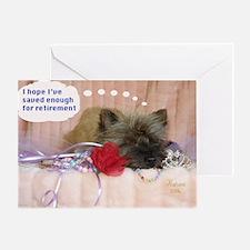 Cairn Terrier Finance Greeting Card