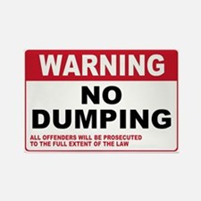Warning No Dumping Rectangle Magnet