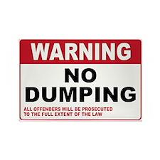 Warning No Dumping Rectangle Magnet (10 pack)