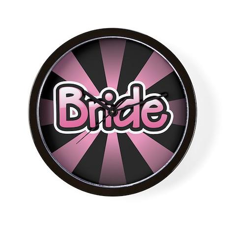 Pink Bride Wall Clock