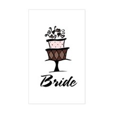 Bride Pink Cake Rectangle Decal