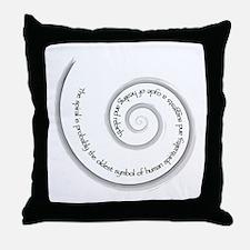 Spiral, Ancient Symbol of Rebirth Throw Pillow