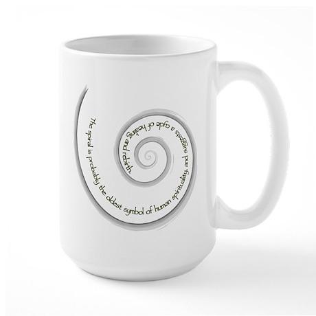 Spiral, Ancient Symbol of Rebirth Large Mug