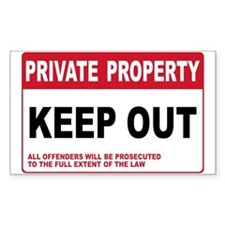 KEEP OUT Rectangle Decal