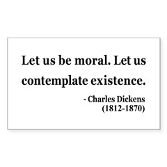 Charles Dickens 5 Rectangle Decal