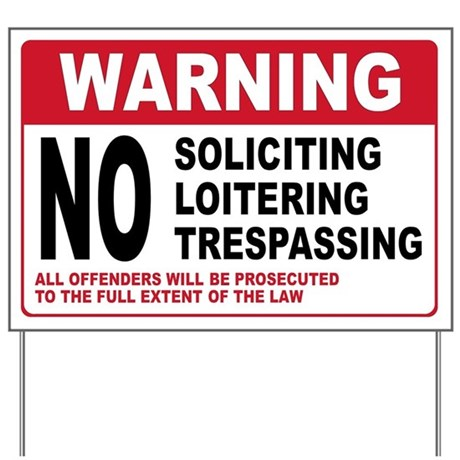 No soliciting yard sign by usanavypride