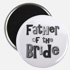 """Father of the Bride Wedding Party 2.25"""" Magnet (10"""