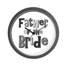 Father of the Bride Wedding Party Wall Clock