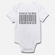 Funny Father of the Bride Broke Infant Bodysuit