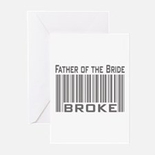 Funny Father of the Bride Broke Greeting Cards (Pk