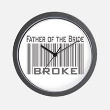 Funny Father of the Bride Broke Wall Clock
