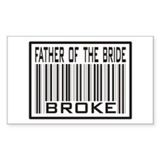 Father of the Bride Broke Wedding Decal