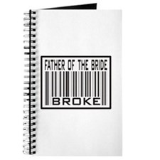 Father of the Bride Broke Wedding Journal