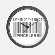 Father of the Bride Priceless Wall Clock