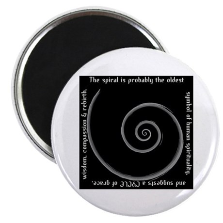 "Spiral, Ancient Symbol of Rebirth 2.25"" Magnet (10"