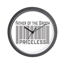 Father of the Groom Priceless Wall Clock