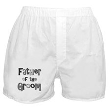 Father of the Groom Wedding Party Boxer Shorts
