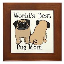 World's Best Pug Mom Framed Tile