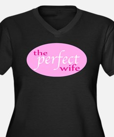 The Perfect Wife Women's Plus Size V-Neck Dark T-S