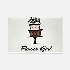 Flower Girl Pink Cake Rectangle Magnet