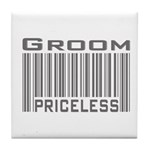 Groom Priceless Tile Coaster