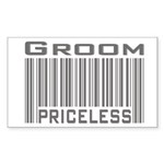 Groom Priceless Rectangle Sticker