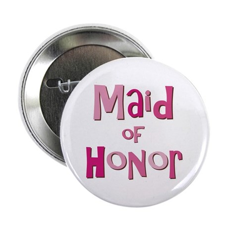 """Maid of Honor Wedding Party 2.25"""" Button (10 pack)"""