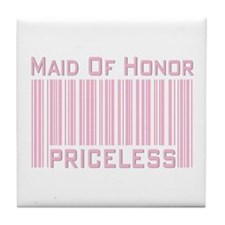 Maid of Honor Priceless Tile Coaster
