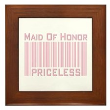 Maid of Honor Priceless Framed Tile
