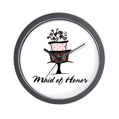 Maid of Honor Pink Cake Wall Clock