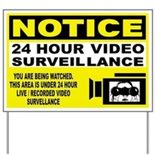 Security Camera Warning Yard Sign