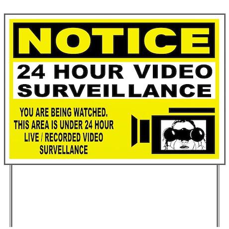 Security Camera Warning Yard Sign