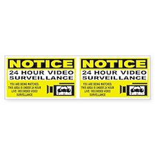 Security Camera Warning Bumper Car Sticker