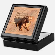 Hypnotizing Dachshund Dog Keepsake Box