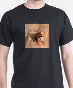 Hypnotizing Dachshund Dog Black T-Shirt