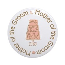 Mother of the Groom Cake Ornament (Round)