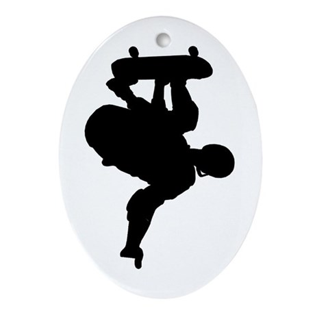 Skateboarding Keepsake (Oval)