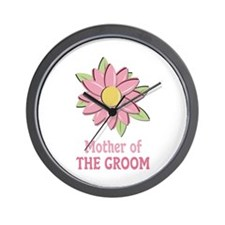 Pink Spring Flower Mother of the Groom Wall Clock