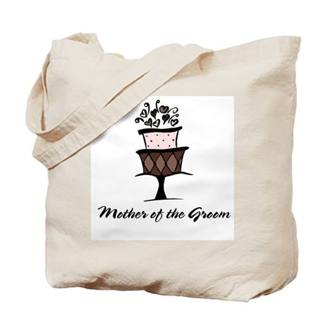 Mother of the Groom Pink Cake Tote Bag