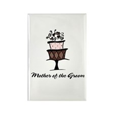 Mother of the Groom Pink Cake Rectangle Magnet